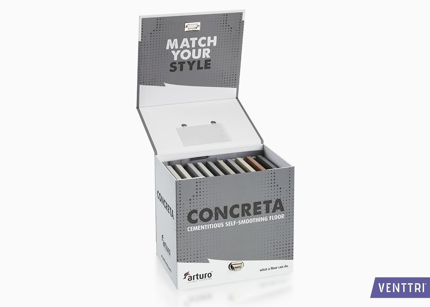Koffer met cementstalen
