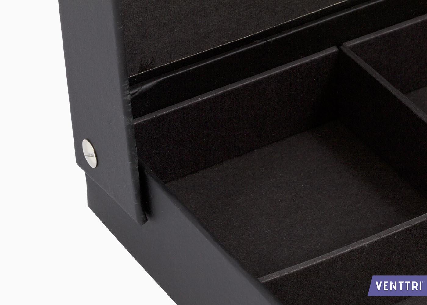 Scharnierende doos deksel met vakverdeling 3