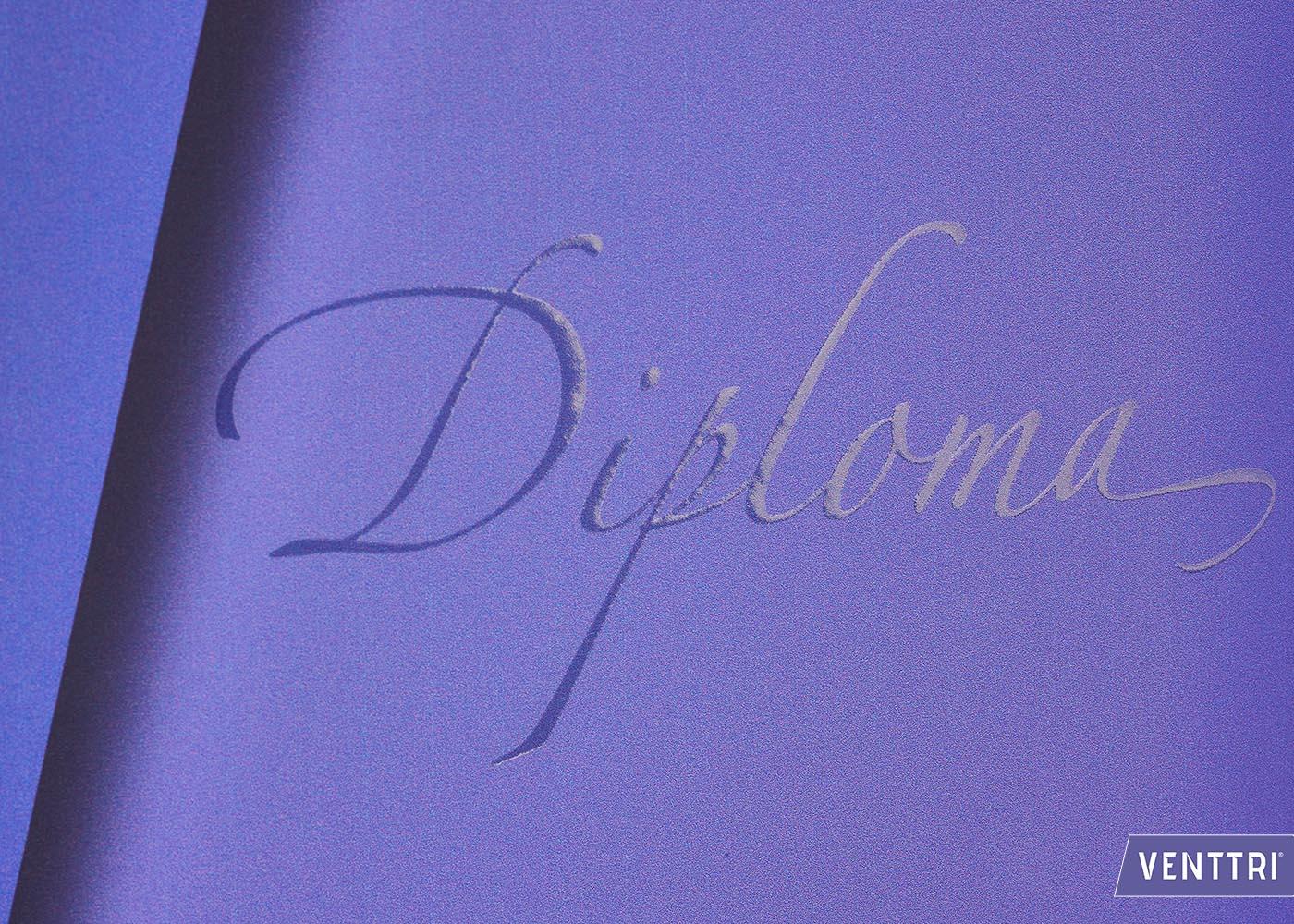 Luxe Diplomamap spot UV