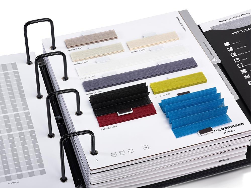 collectieboek met stalen plisse