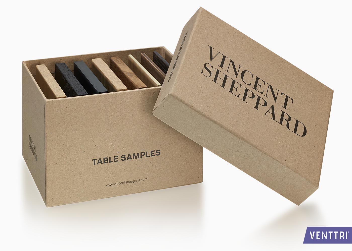 bedrukte doos met deksel samples