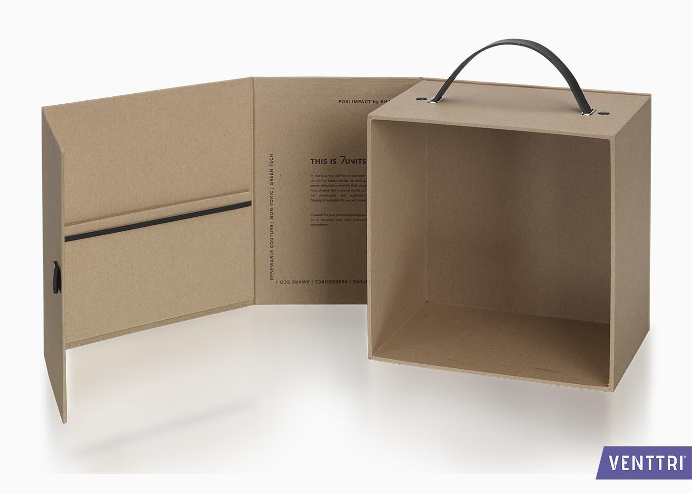 Ecologische presentatiebox met magneetsluiting binnenkant